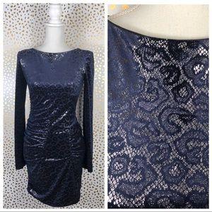 Kardashian Bebe Velvet Cheetah Short Dress